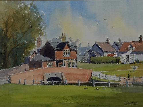 Over the Bridge Finchingfield Painting