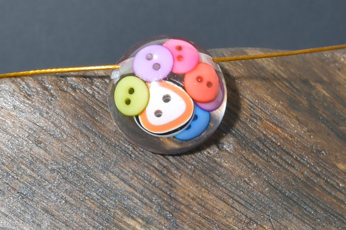 Round Pendent - Colourful Buttons