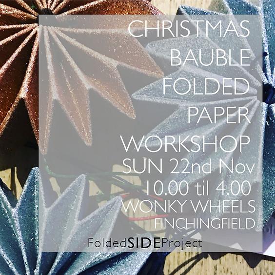 Christmas Bauble Folded Paper Workshop