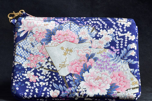 HIDARI POUCH (navy and pink)