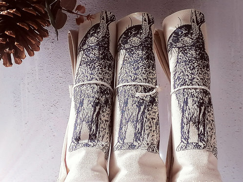 Hare Napkins by Lottie Day