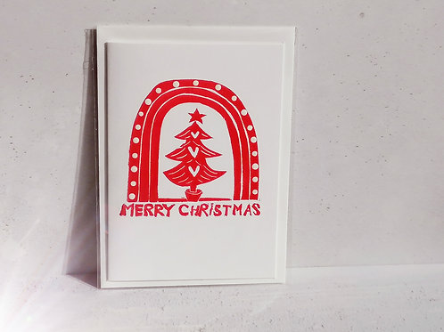 Rainbow Christmas Greetings Card