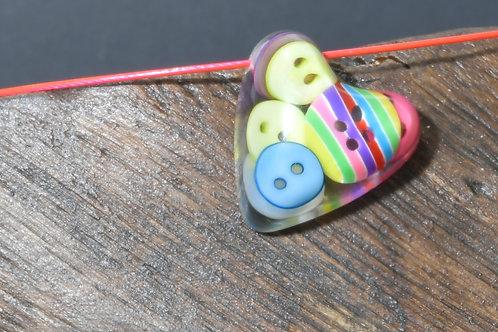 Button Heart Pendant