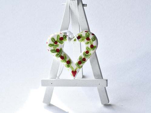 Love Heart (Red & Green flower)