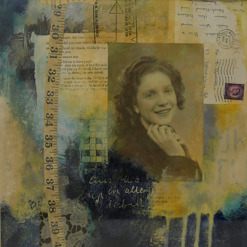 The Seamstress - Mixed Media Artwork
