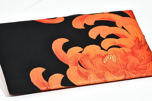 OBI CLUTCH BAG (black and orange)