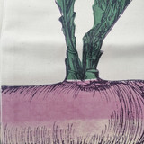 Purple Turnip Vegetable Tea Towel