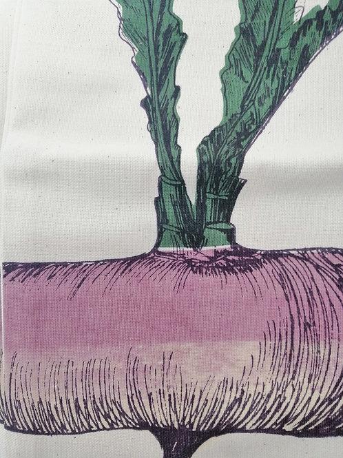Purple Turnip Vegetable Tea Towel