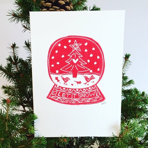 Let it Snow Christmas Greetings Card