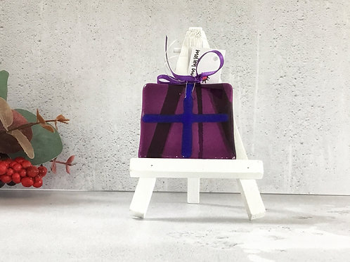 Hanging Pressies Decoration in Purple by Molten Wonky
