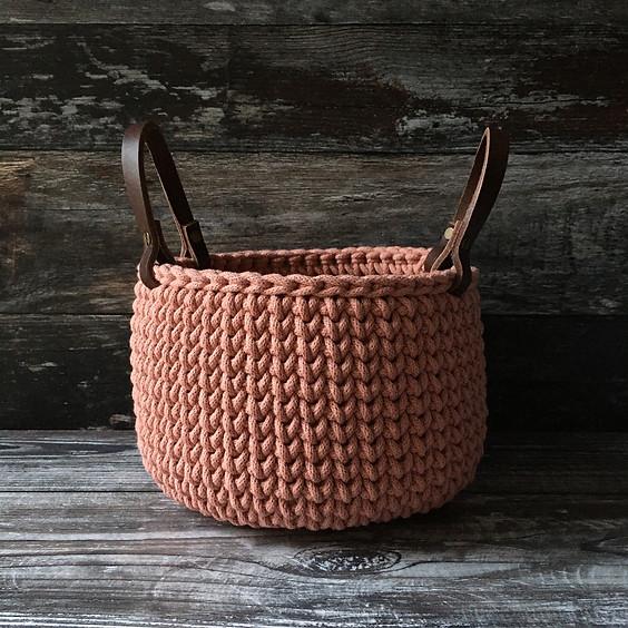 Chunky Crocheted Baske