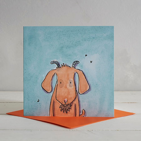 Goat Card by Helen Wiseman