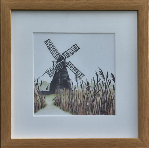 Framed Wicken Wind Pump