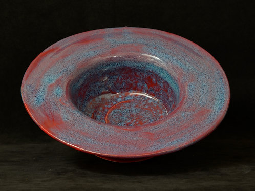 Ceramic Blue and Red bowl