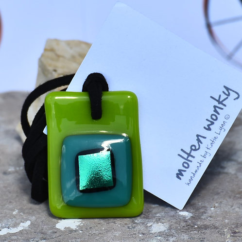 Green Nugget Pendants By Molten Wonky