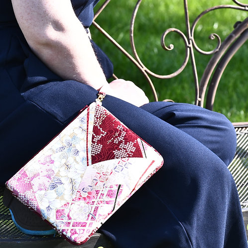 HIDARI POUCH (plum and pink)