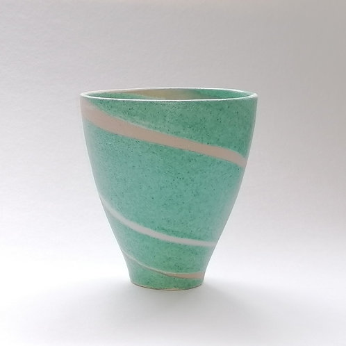 Green with Blue Spiral Bowl