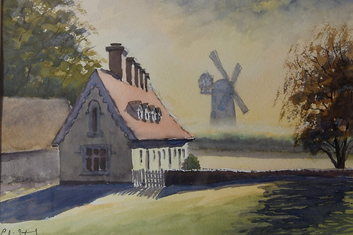 Painting of Thaxted Mill by Colin Steed