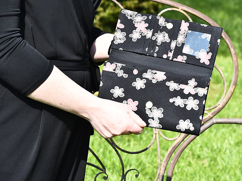 GINKOU PURSE  (black and red)