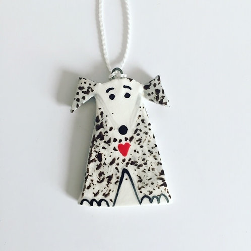 Ceramic Hanging Dog, Quirky Dog Gifts by Flora Olney