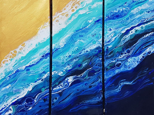 'Turquoise tides triptych'