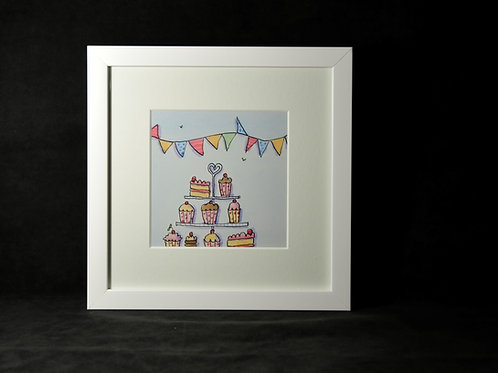 Cake Plate Illustration