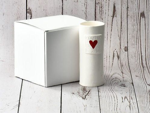Heart Vase by Flora Olney