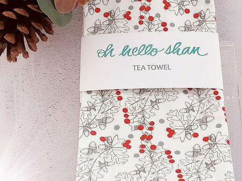 Holly Tea Towel by Oh hello Shan