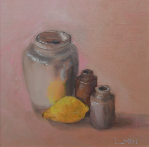 Lemon Reflection - Painting