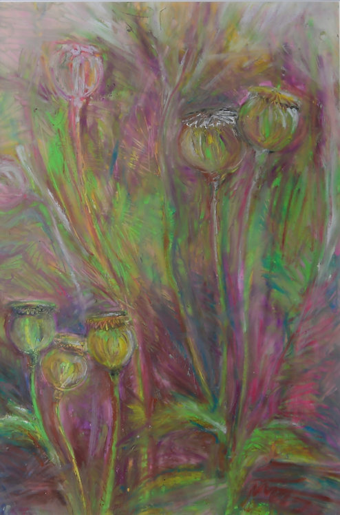 Poppy heads Painting