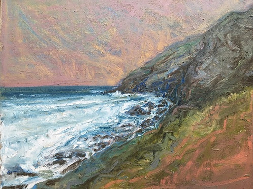 'The sky widens to Cornwall' - Painting