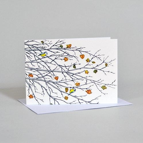 Card Autumn Branches
