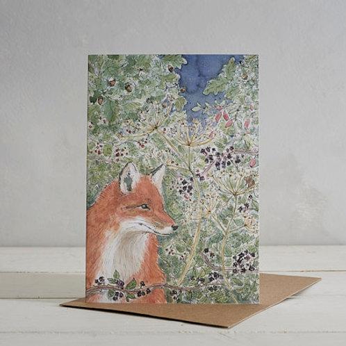 Fox card by Helen Wiseman