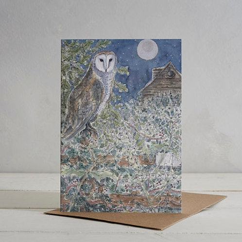 Owl Card by Helen Wiseman
