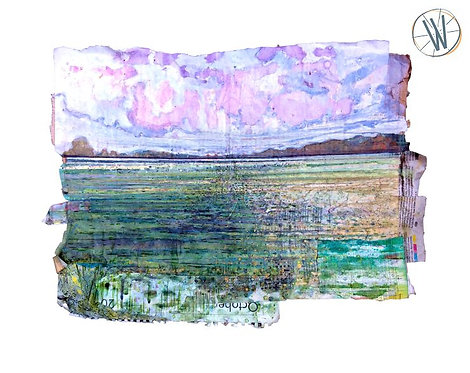 A place called October Mixed Media Artwork