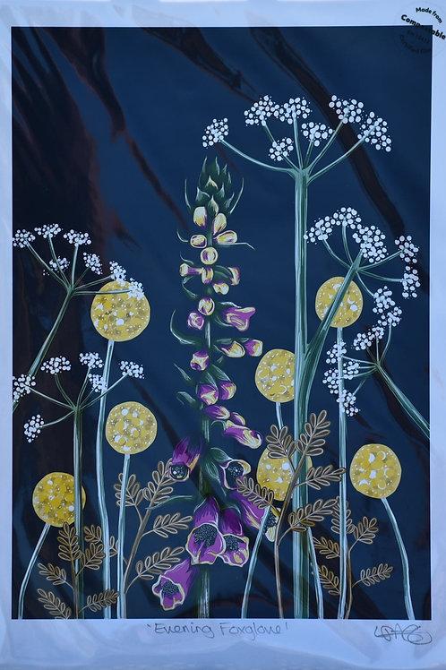 Evening Foxglove Print