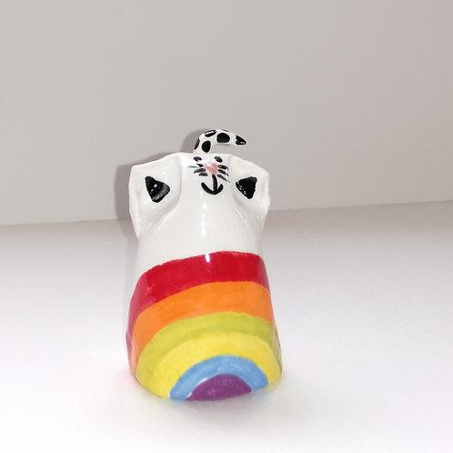 Rainbow -  Cat Ceramic