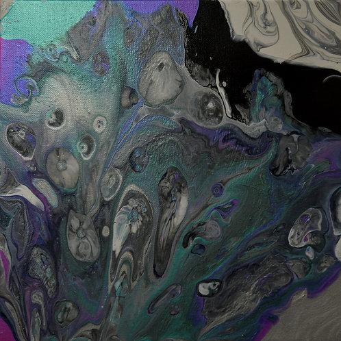 Black Peacock - Acrylic Artwork