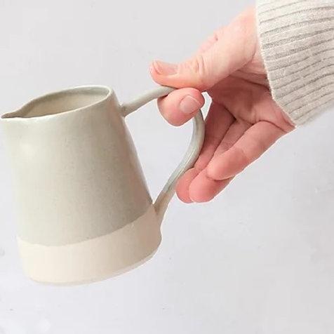 Stoneware jug, grey glaze