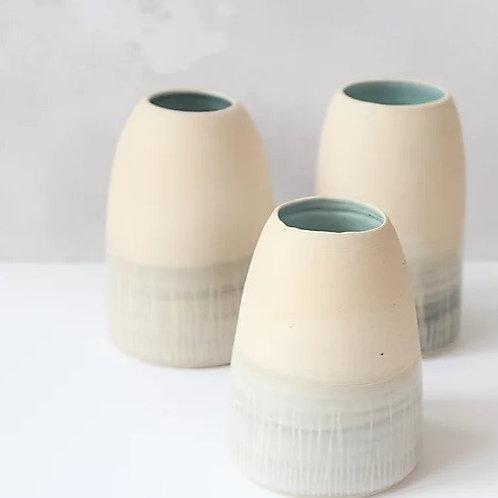 Stoneware Vase (turquoise glazed interior)