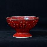 Ceramic Pierced red bowl