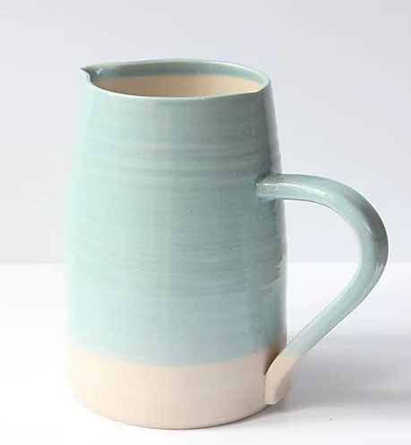 Stoneware jug large, turquoise glaze