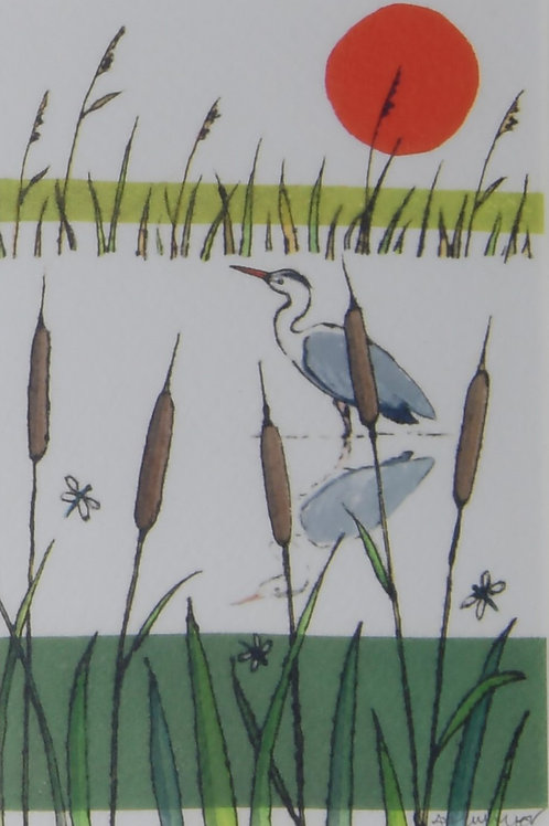 Heron Fen Print