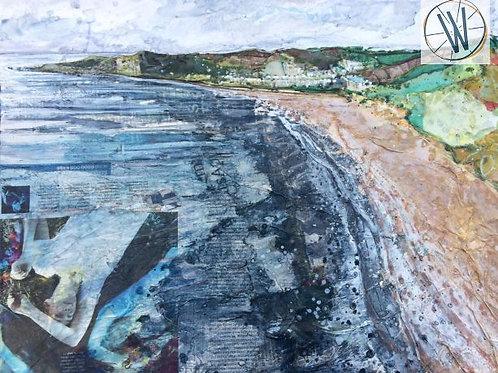 Woolacombe Bay Devon Mixed Media Artwork