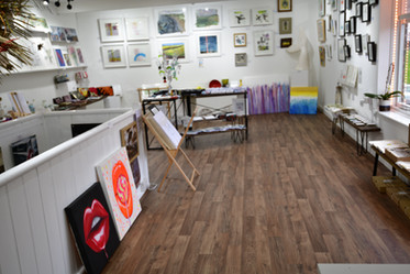Paintings arrived in the gallery