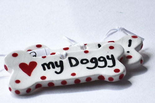 My Doggy! Dog Bow, Quirky Dog Gifts by Flora Olney