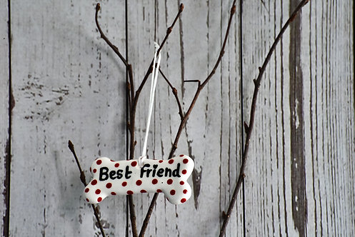 Best friend, Quirky Dog Bow Gifts by Flora Olney