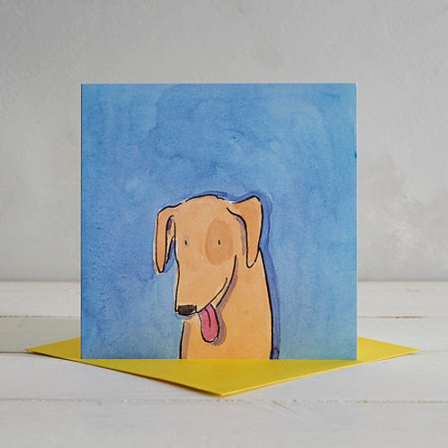 Yellow Lab Card by Helen Wiseman