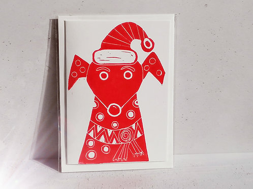 Elf Chrimstmas Greetings Card