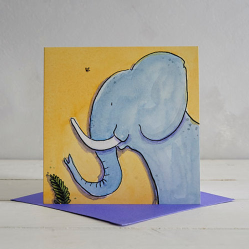 Elephant Card by Helen Wiseman